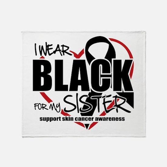 SK: Black for Sister Throw Blanket