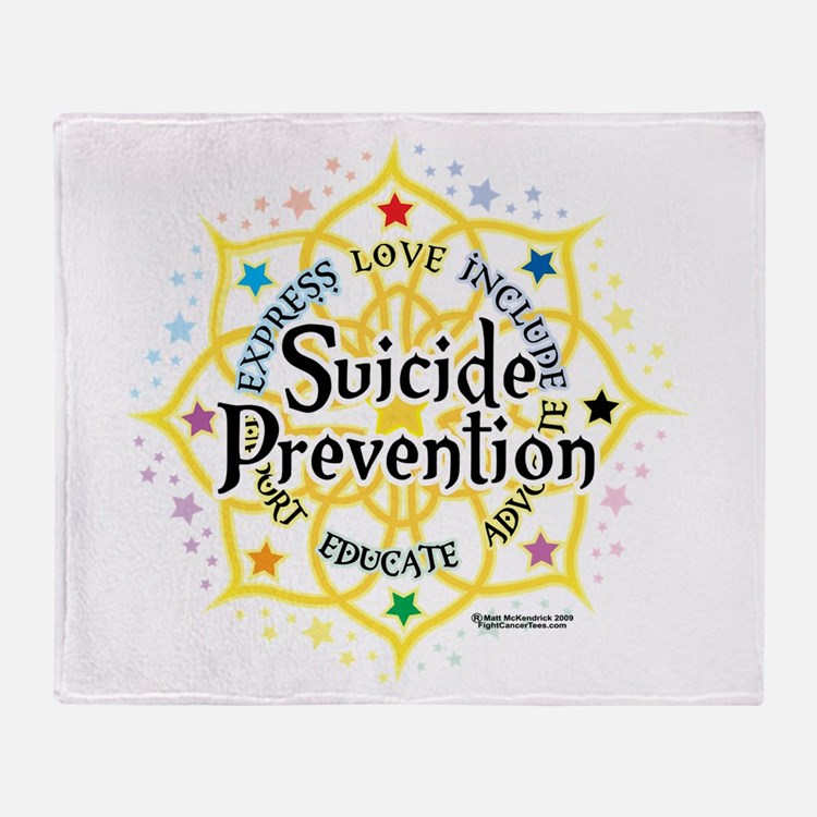 Suicide Prevention Lotus Throw Blanket