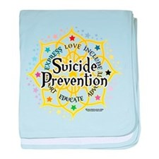 Suicide Prevention Lotus baby blanket