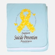 Suicide Prevention Ribbon of baby blanket
