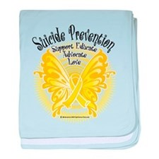 Suicide Prevention Butterfly baby blanket