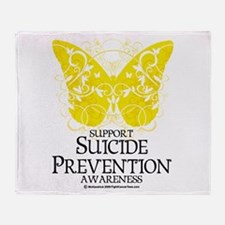 Suicide Prevention Butterfly Throw Blanket