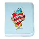 Suicide Prevention Tattoo Hea baby blanket