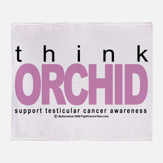 Testicular Cancer Think Orchi Throw Blanket