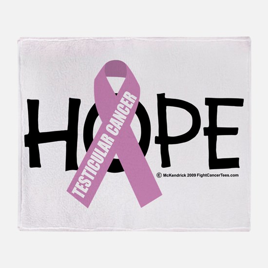 Testicular Cancer Hope Throw Blanket