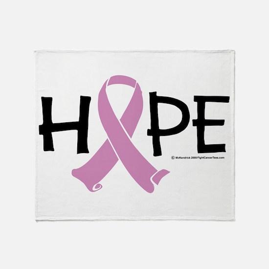 Testicular Cancer Ribbon Hope Throw Blanket