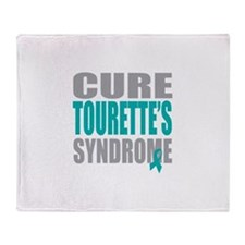 Cure Tourette's Throw Blanket