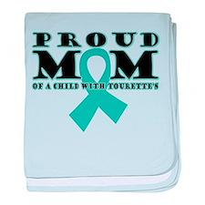 Tourette's Proud Mom baby blanket
