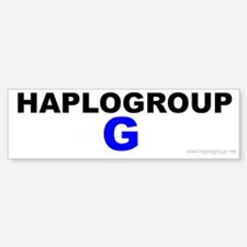 Haplogroup G Bumper Bumper Bumper Sticker