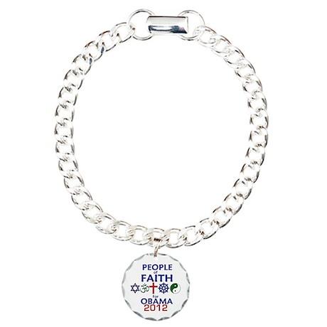 Obama Faith 2012 Charm Bracelet, One Charm