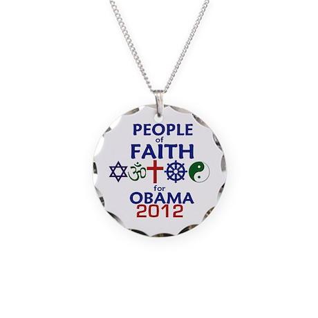 Obama Faith 2012 Necklace Circle Charm