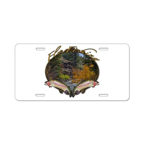 Fly fishing aluminum license plate by saltypro shop for Florida temporary fishing license