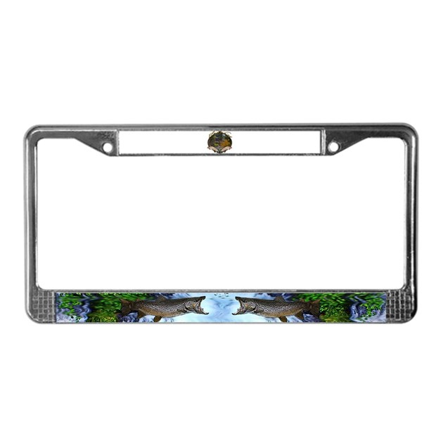 Fly fishing license plate frame by saltypro shop for Fishing license plate