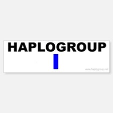 Haplogroup I Bumper Bumper Bumper Sticker