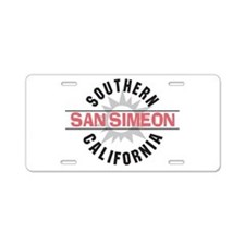 San Simeon California Aluminum License Plate