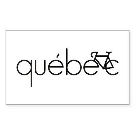 Bike Quebec Sticker (Rectangle)