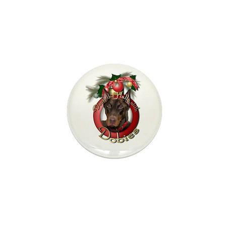 Christmas - Deck the Halls - Dobies Mini Button (1