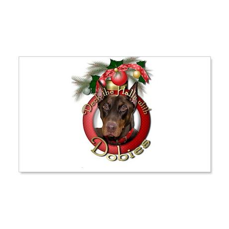 Christmas - Deck the Halls - Dobies 22x14 Wall Pee