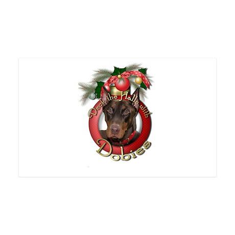 Christmas - Deck the Halls - Dobies 38.5 x 24.5 Wa