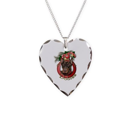 Christmas - Deck the Halls - Dobies Necklace Heart