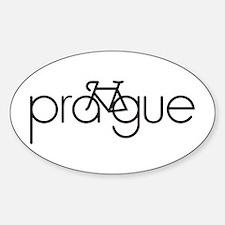 Bike Prague Sticker (Oval)
