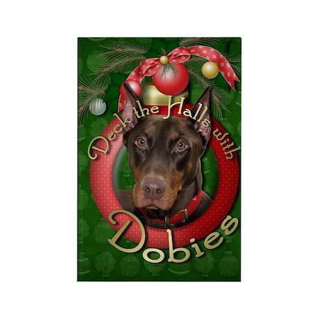Christmas - Deck the Halls - Dobies Rectangle Magn