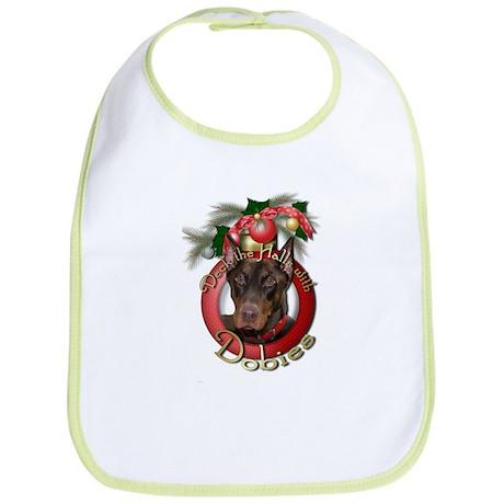 Christmas - Deck the Halls - Dobies Bib