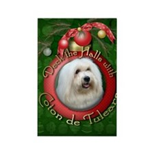 Christmas - Deck the Halls - Coton de Tulears Rect