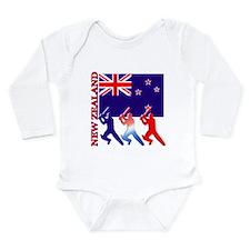 Cricket New Zealand Long Sleeve Infant Bodysuit
