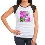 FLOWER WHISPER Women's Cap Sleeve T-Shirt
