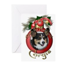 Christmas - Deck the Halls - Corgis Greeting Cards