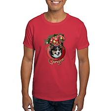 Christmas - Deck the Halls - Corgis T-Shirt