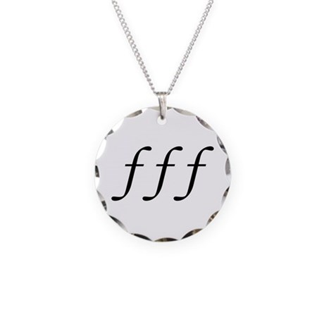 Fortissimo Necklace Circle Charm
