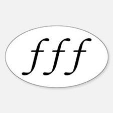 Fortissimo Sticker (Oval)