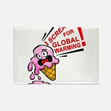 I scream for global warming! Rectangle Magnet