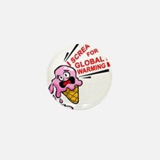I scream for global warming! Mini Button