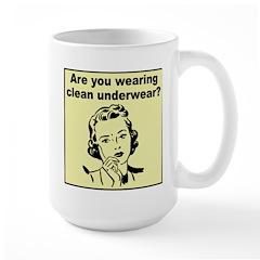 Humorous Clean Underwear Large Mug