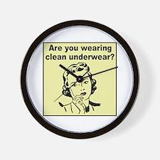 Humorous Clean Underwear Wall Clock