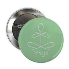 """Yoga Glee in Green 2.25"""" Button (10 pack)"""