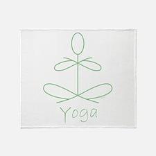 Yoga Glee in Green Throw Blanket