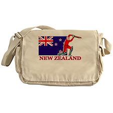 New Zealand Cricket Player Messenger Bag