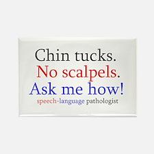 Chin Tucks Rectangle Magnet (100 pack)