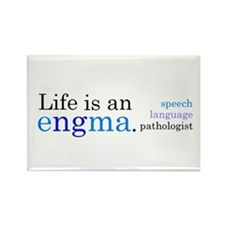 Life is an engma. Rectangle Magnet