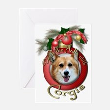 Christmas - Deck the Halls - Corgis Greeting Card