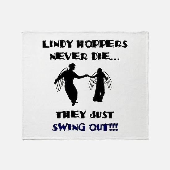 Lindy Hoppers Never Die Throw Blanket