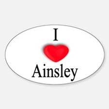 Ainsley Oval Decal