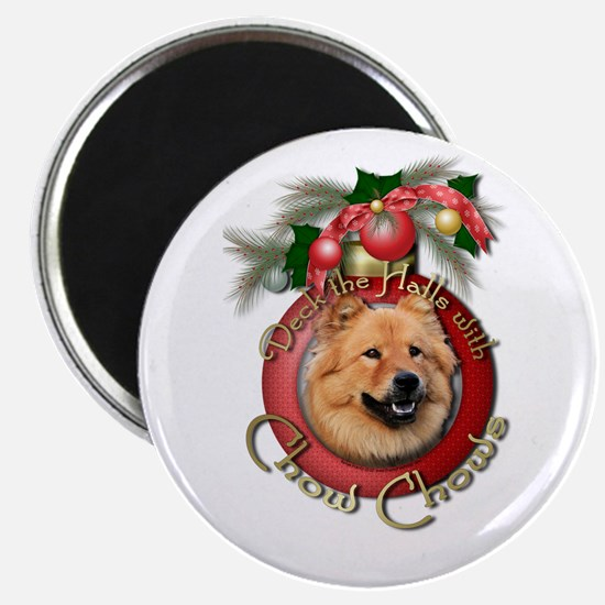 Christmas - Deck the Halls - Chows Magnet