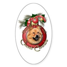 Christmas - Deck the Halls - Chows Decal