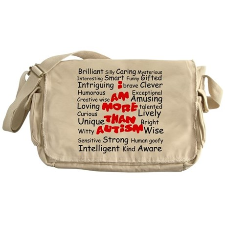 I am more than Autism Messenger Bag