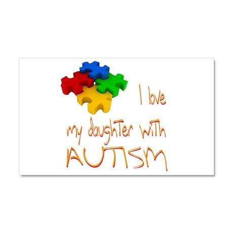 Autistic Daughter Car Magnet 20 x 12